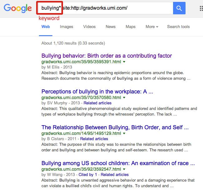 Google ProQuest