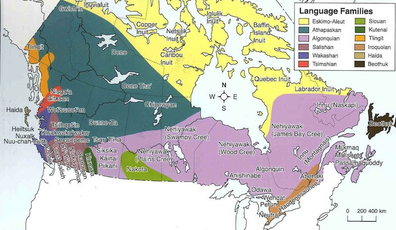 Map is from Racism, Colonialism, and Indigeneity in Canada: A Reader