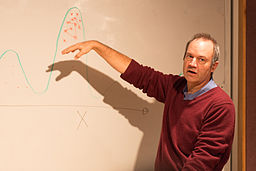 Photograph of lecturer