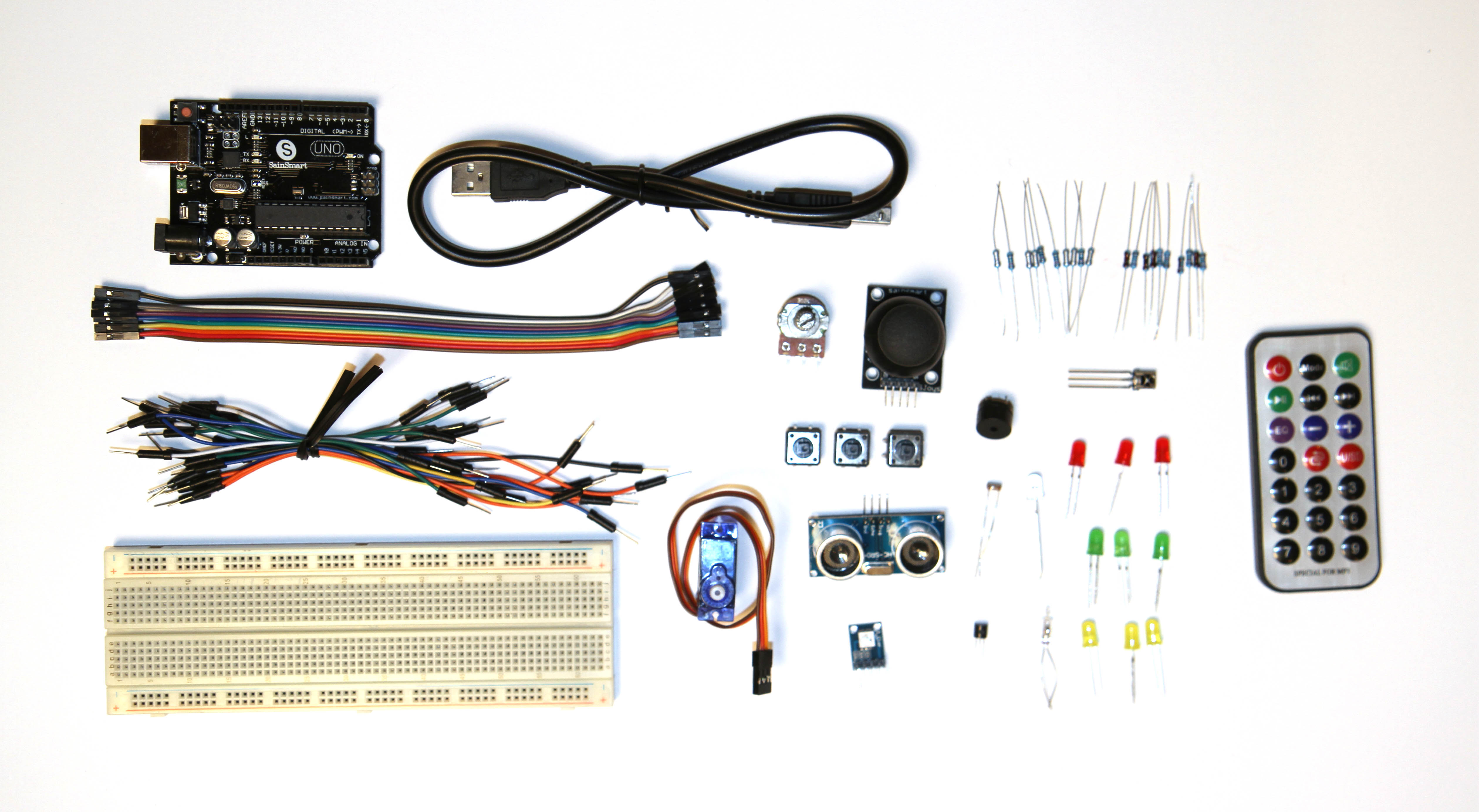Arduino and parts for the basic kit