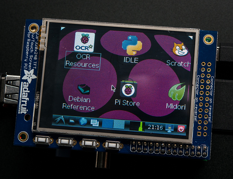 Raspberry Pi with small touch display