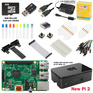Raspberry Pi and kit components