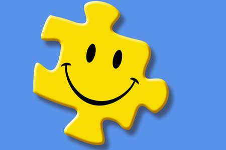 puzzle piece with smiley face