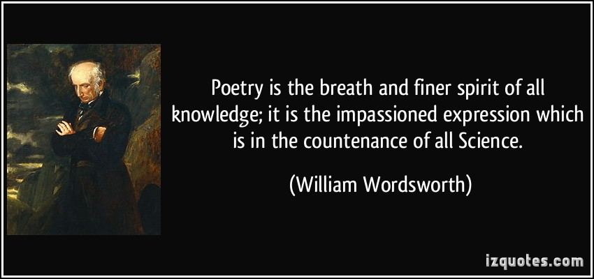 Wordsworth poetry quote with poet's likeness