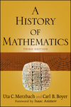 Book cover of A History of Mathematics.