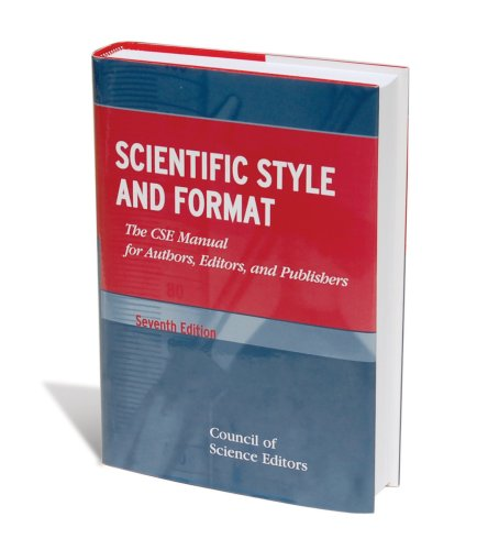 Cover of the Council of Science Editors style book.