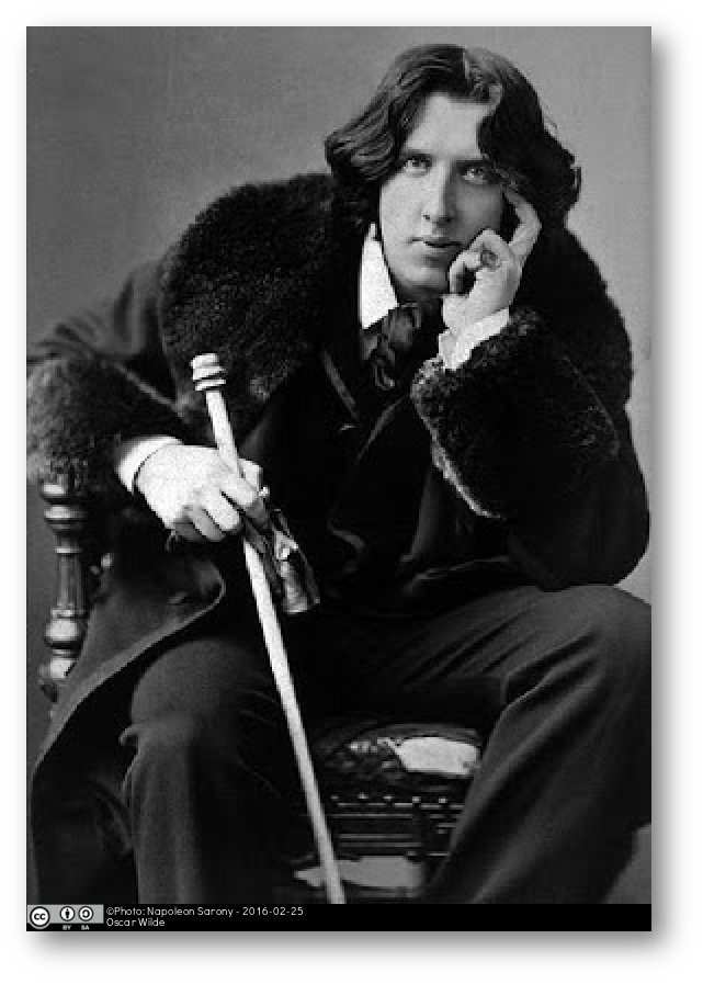Napoleon Sarony photo of Oscar Wilde