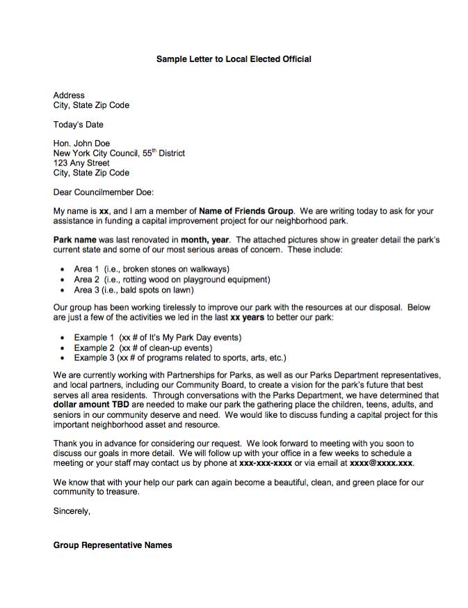 Sample Letter #2