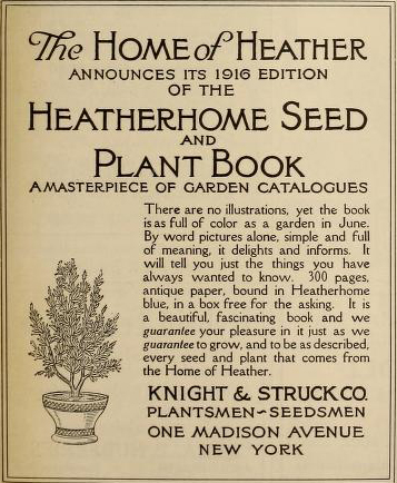 Heatherhome Seed and Plant Book. Knight & Struck Co.
