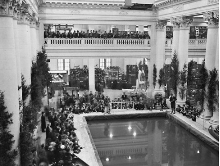 Crowds inside the Grand Central Palace