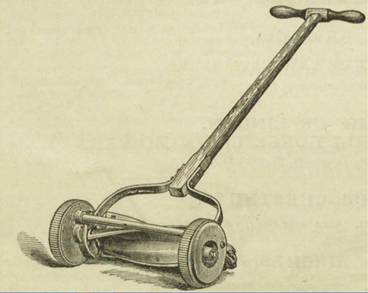 Lawn mower, Breck's catalog, 1884