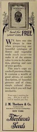 Thorburn's Seeds. J.M. Thorburn & Co.