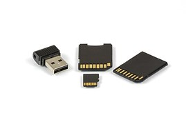USB and memory card