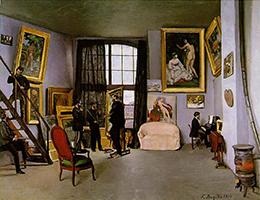 image of painting L'Atelier de la rue de la Condamine