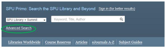SPU Library Catalog