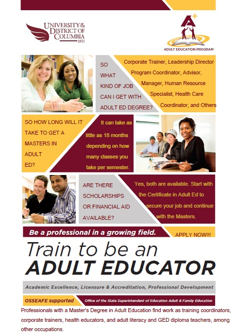 Train to be an Adult Educator Flyer