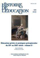 Histoire de l'éducation. Couverture. Source : Electre