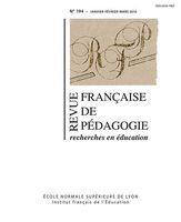 Revue française de pédagogie. Couverture. Source : Electre