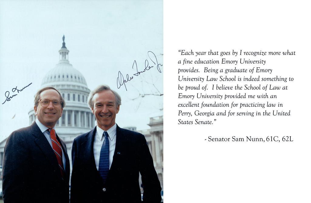 U.S. Senators Sam Nunn (62L) & Wyche Fowler (69L), 1987