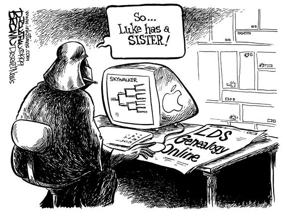 Darth Vader genealogy cartoon