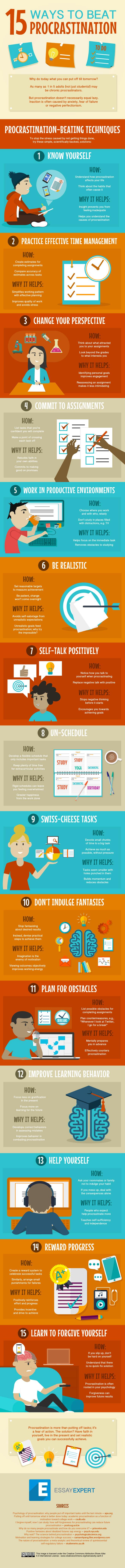 15 Ways to Beat Procrastination Image