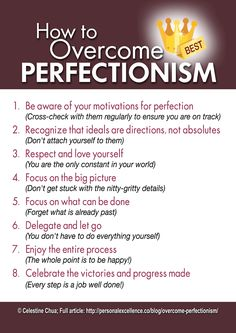 Overcoming Perfectionism Image