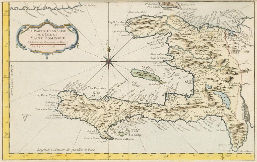 18th Century map of Haiti