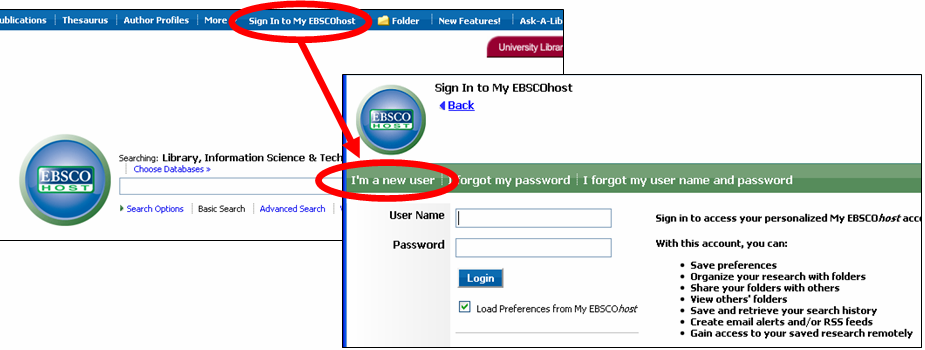 Creating a MyEBSCOhost Account