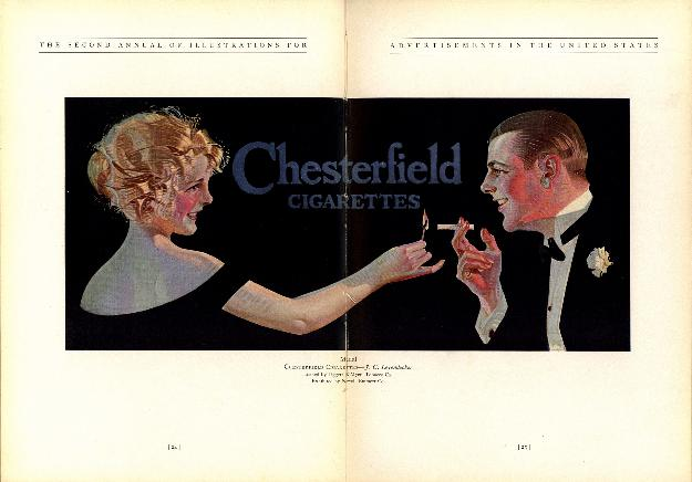 Chesterfield Cigarettes, 1923