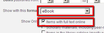 eBooks in Summon