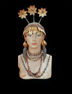 Head of a Woman with Gold Jewelry