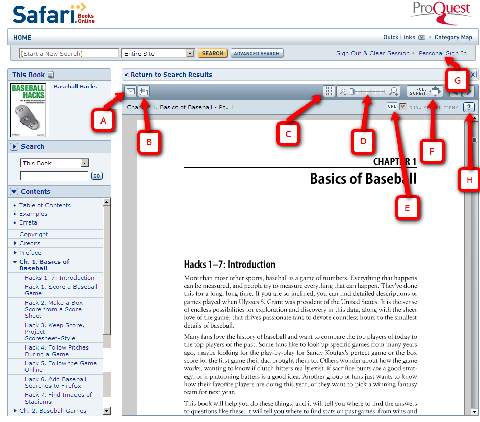 Safari Books screenshot