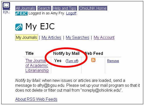 E Mail Alert