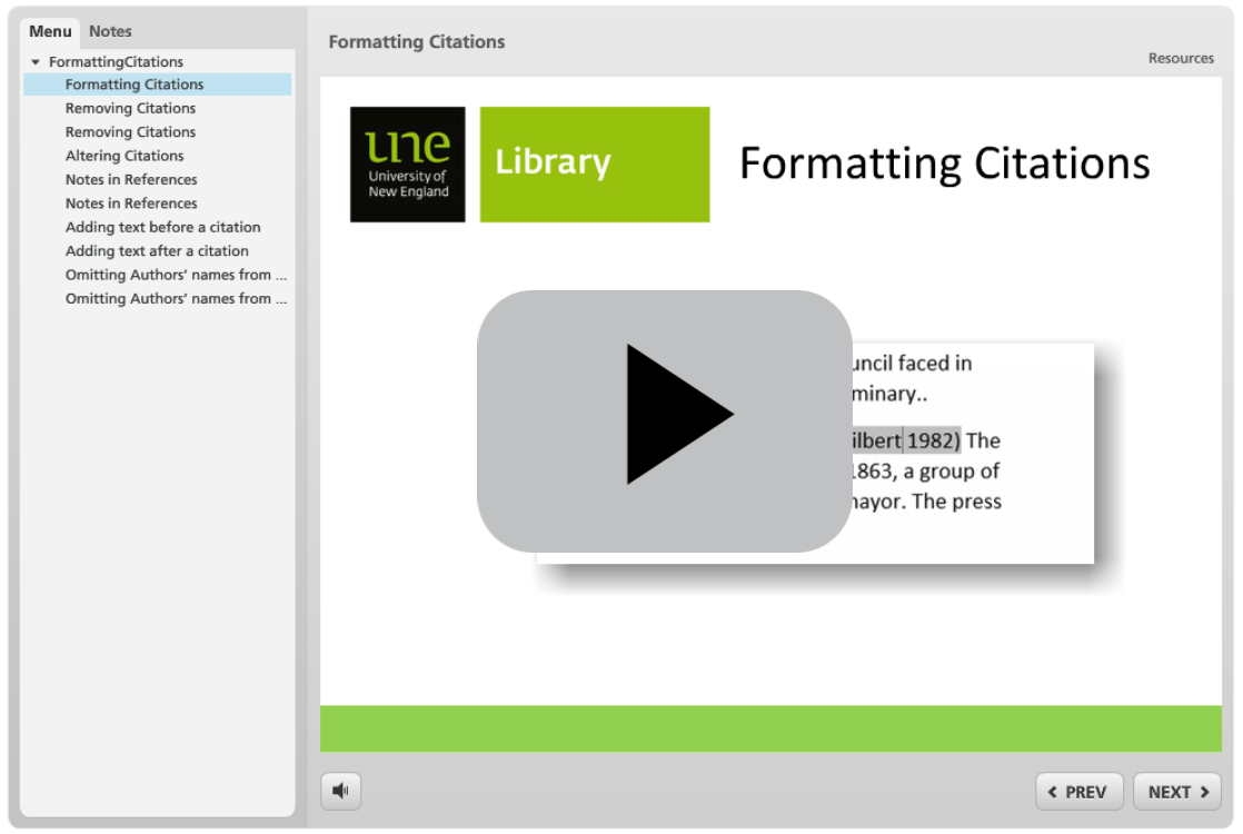 Inserting Citations Into Word - click here to play