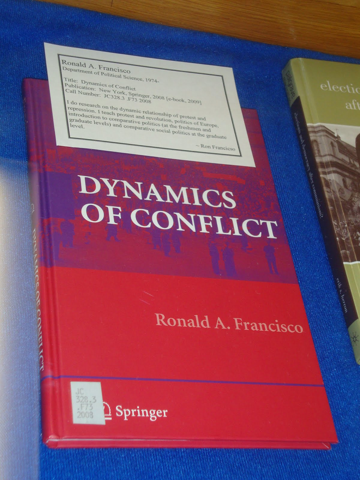Book: Dynamics of Conflicts