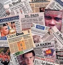 Image of international newspapers