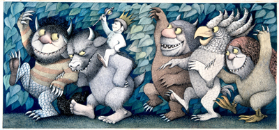 Final drawing for Where the Wild Things Are, &copy; 1963 by Maurice Sendak, all rights reserved.