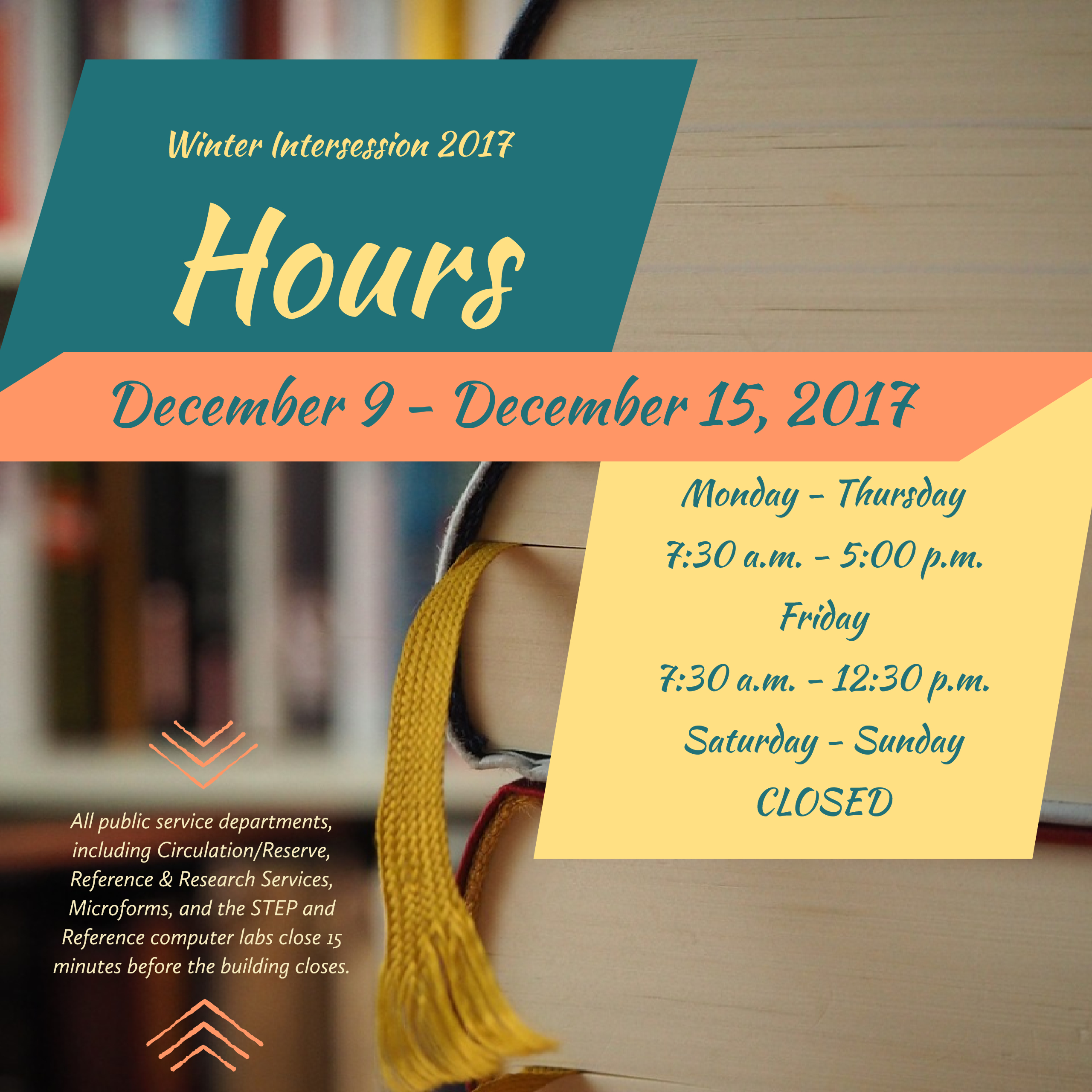Fall 2017 Library Hours