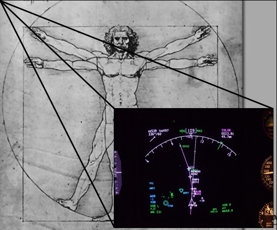 BIE vitruvian man and heads up display