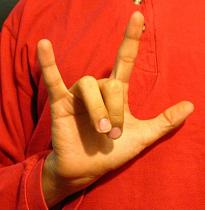 """ASL Handshape for """"I love you."""""""