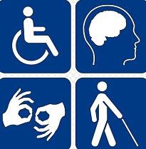 image of common disability symbols