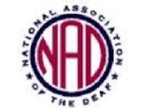image of National Association of the Deaf logo