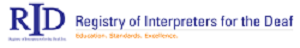 image of Registry of Interpreters for the Deaf logo