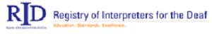 image of Registry of Interpreters for the Deaf logo