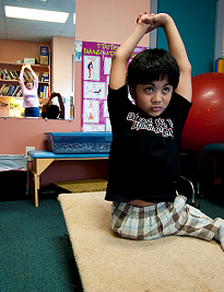 image of occupational therapy for boy