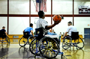 image of Wounded Warriors' basketball game