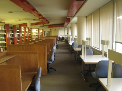 Basement study carrels