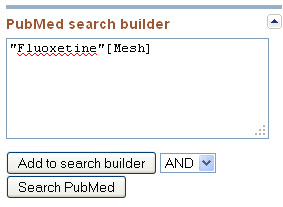 Search builder on PubMed