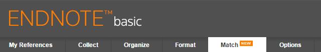 EndNote Basic menu bar