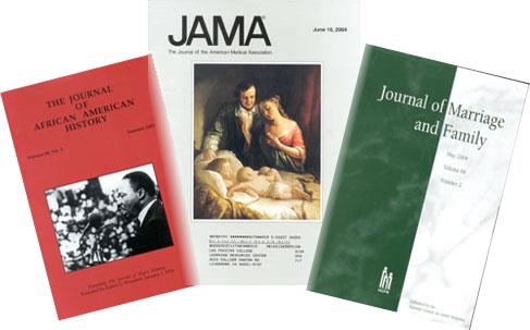 photograph of three journals